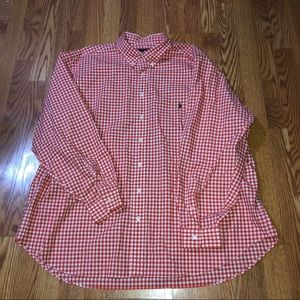 Polo Ralph Lauren 3XB Orange White Button Down